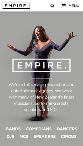 Mobile project showcase image for Empire Agency.