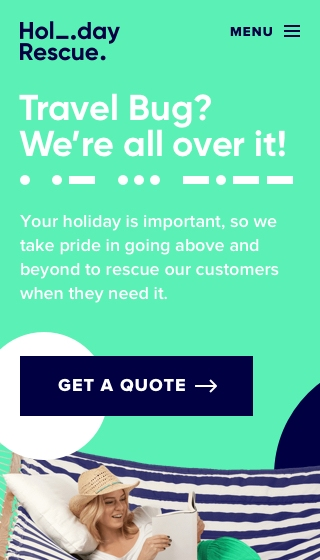 Mobile project showcase image for Holiday Rescue.